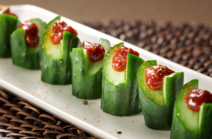 もろ味噌きゅうり $4.50<br />MORO-MISO cucumber