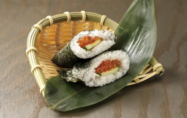 """おにぎらず $5.00<br />Rice sandwich """"ONIGIRAZU"""" made with NIIGATA KOSHIHIKARI."""