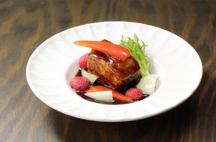 豚肉のバルサミコソース $11.00<br />Chashu with Balsamic sauce