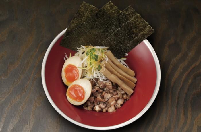 """まぜそば 炙りチャーシュー<br />MAZE SOBA ABURI CHASHU """"Dried sardine oil x Shoyu"""""""